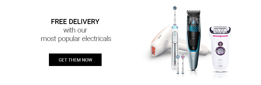 Free delivery with our most popular electricals!