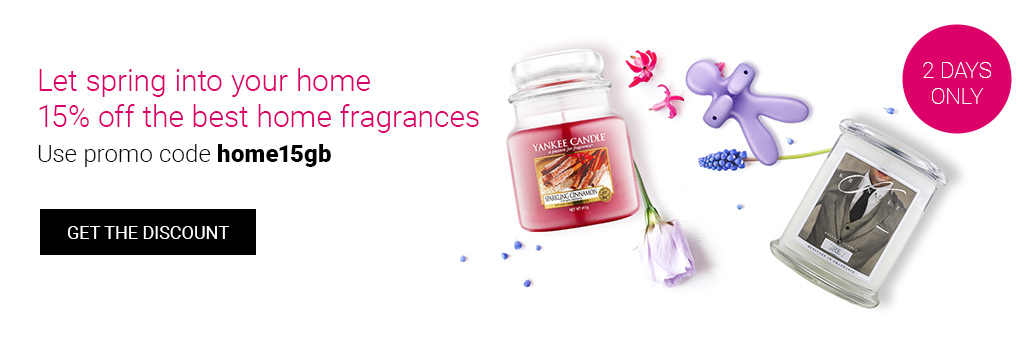 15% off top home fragrance brands! Use code home15gb.