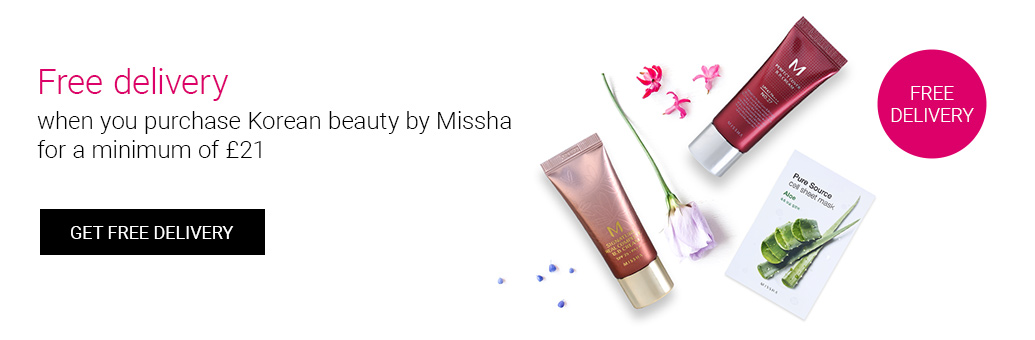 Buy popular Korean beauty by Missha for a minimum of £21 and get free delivery!