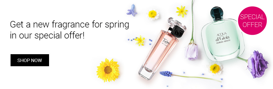 Discounts on fresh spring fragrances to lift your mood!